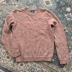 Opening ceremony sweater with gold studs